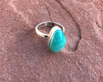Carico Lake Turquoise Sterling silver Ring