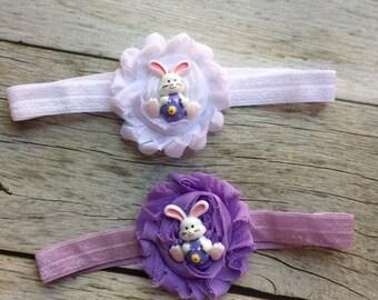 Easter headband, baby headband, bunny headband, spring headband, pink Easter headband, Easter bunny headband, newborn headband, photo prop,