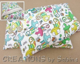 Heating Pack Corn Pillow Pack with washable cover Chameleons Bugs Critters Flannel eating bag therapy flannel cute READY TO SHIP (505)