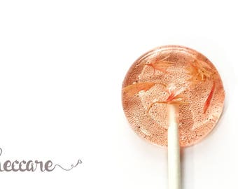 Spring Flower Lollipops // 20 Watermelon and Vanilla // Pink Button Flowers // Spring Wedding Favor // Summer Wedding // New Lollipop