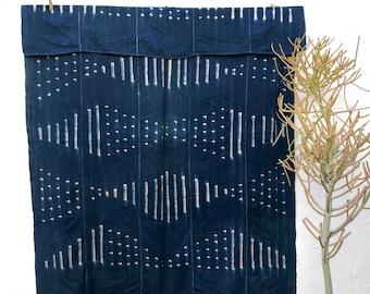 Vintage African Indigo Fabric, Indigo Throw Hand dyed indigo fabric African Indigo Textile Indigo ClothIndigo Beach Blanket Indigo Shawl #69
