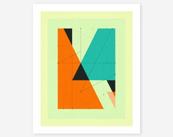 Giclée Fine art Print, Abstract, Geometric Artwork by Jazzberry Blue, DELINEATION (107)