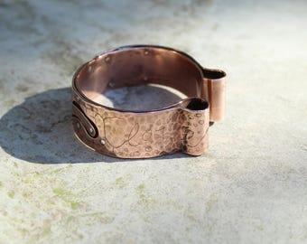 Copper and silver cuff - Remaches