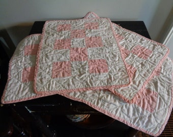 Vintage Doll Quilts, Pink and White