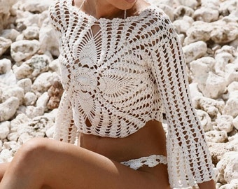 Crochet Top,Women Top.