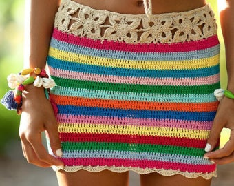Crochet Skirt Beach Skirt Summer Skirt