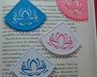 Lotus Corner Bookmarker,