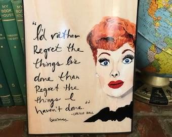 Lucille Ball art print   Lucy   lucille ball quote   retro inspired art   retro rewind