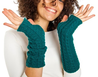 Arm warmers From Pure Merino Yarn Texting Gloves Fingerless Gloves Fingerless Arm warmers Woollen Gloves