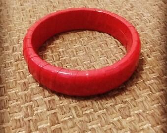 Vintage red bangle bracelet retro pinup