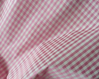 7.5 Yards 50s Pink Taffeta Gingham