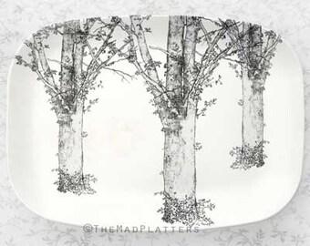 Tree, Redon tree melamine platter