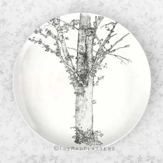 Tree from Oldilon Redon, melamine plate