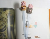 Cat Paw Bookmarks- needle felted wool cat paw bookmarks