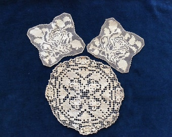 Vintage Handmade Lace, 3 Pieces