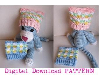 Crochet Newborn Pastel Cat Ear Hat Digital Download PATTERN/ Cat Ear Hat Pattern for babies / Pattern for Baby Cat Ear Hat  / Baby Kitty Hat
