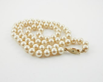 "Vintage Pearl Necklace - 22"" Pearl Necklace"
