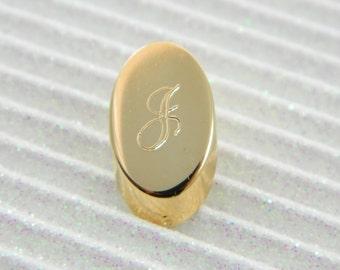 """Gold Monogram """"J"""" Lapel Pin - Personalized Initial """"J"""" Tie Tack"""