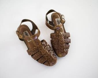 Women's Vintage leather sandals size 6 1/2M