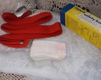 Vintage Parker Safety Belt Red Seat Belt, Vintage Seat Belt, Car Seat Belt, Classic Car Seat Belt, Classic Seat Belt :)s*