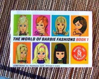 The World of Barbie Fashion Book #1  1967 Mattel Toys