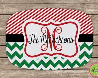 Design Your Own Personalized Melamine Platter, Christmas Platter,  Monogrammed Platter,Tray,  Hostess Gift, Wedding Gift,  Housewarming Gift