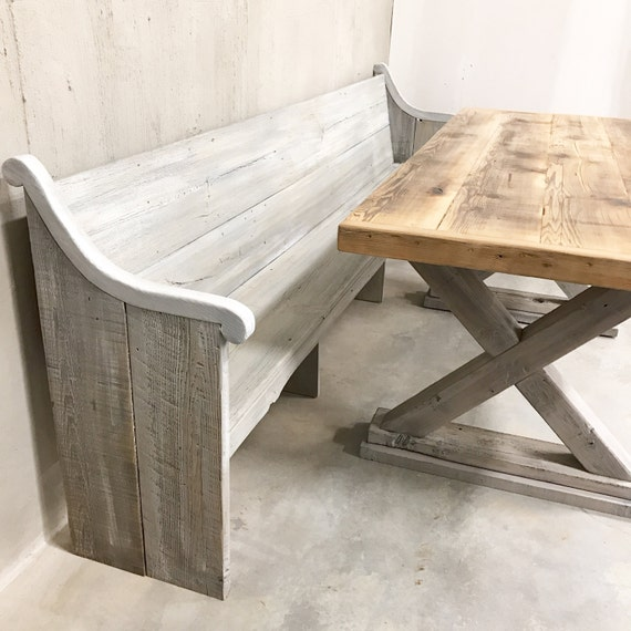 Rustic modern country farmhouse trestle x base dining Table