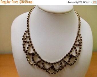On Sale Vintage Prong Set Red Rhinestone Necklace Item K # 1206
