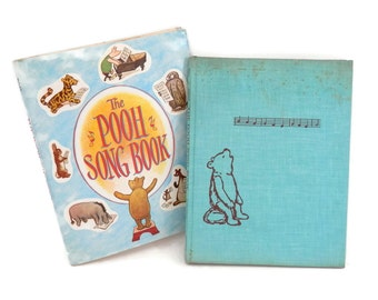 The Pooh Song Book by A.A. Milne 1961 Children's Songs about Winnie The Pooh Hardcover w/Dust Jacket