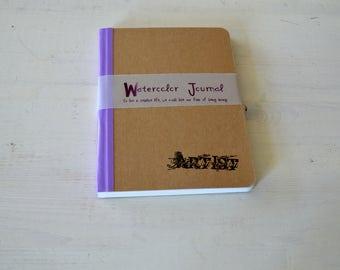 Watercolor journal, art journal, sketchbook,  artist  book, mixed media journal,  notebook