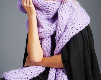 Loopy Mango - Winter Scarf - Chunky Merino Wool