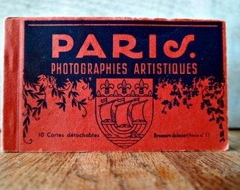 Vintage Paris Postcard Book