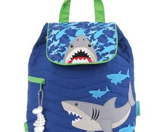 Personalized Stephen Joseph Shark Quilted Backpack