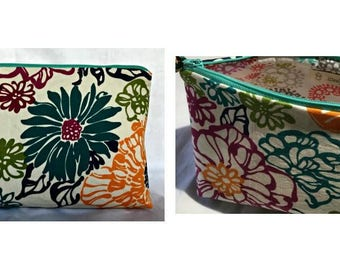 SUMMER SALE Cosmetic Bag, Cosmetic Case, Frida Cosmetic Bag, Floral and Paris Make-up Bag, Cosmetic Pouch, Toiletries Bag, Make-Up Case