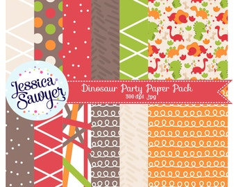 INSTANT DOWNLOAD, dinosaur digital papers for planner stickers, products, and crafts