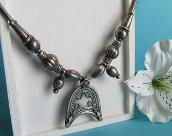 Tribal India Silver Necklace.
