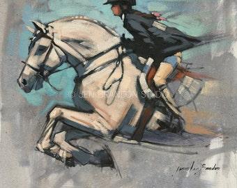 Pony and Girl Giclée Fine Art Print
