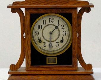Antique Ingraham Eight Day Mantel Clock