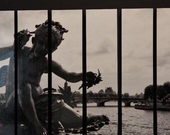 Cherub On The Pont Alexandre III, Paris, France, McArthur Vertical Wood Blocks