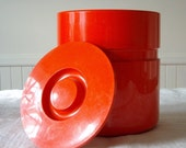 RESERVED for Stuart***Mod Italian Heller Sergio Asti Retro Orange Ice Bucket