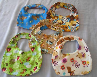 DOG BABY BIBS with Velcro Fastners