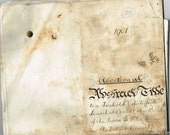 Antique Edwardian, 1900s vellum document, Abstract of Title / indenture, Back of the inns, Norwich - dated 1907