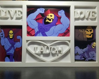 SALE! Live Laugh Love Skeletor Photo Picture Frame - Masters of the Universe - Meme (No Glass - Read Details)