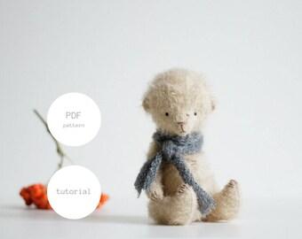 PDF Sewing Pattern & Tutorial Mohair Teddy Bear 6 Inches Stuffed Animal Pattern Artist Teddy Bear Pattern For Women Plush Pattern Soft Toys
