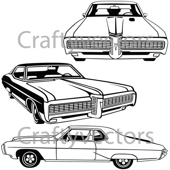 pontiac grand prix 1968 car vector file