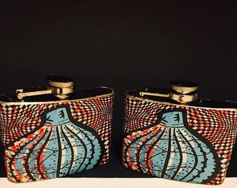 Ankara Print Drink Flask