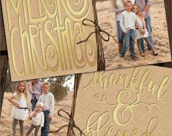 Foil Christmas Cards, Gold Foil Christmas Cards, Photo Christmas Cards, Gold Christmas Cards, Kraft Paper Christmas Card