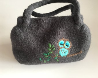 Hand felted Handbag
