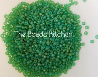 11/0 Czech Glass Rocaille Seed beads Peridot Frosted Matte Peyote Beads Embroidery Lime Green High Quality