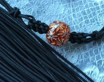 Japanese Silk Kumihimo Cord  * Black braided cord*1.5mm x 10m
